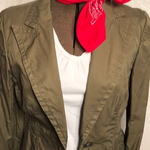 Banana Republic army green jacket/blazer